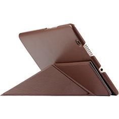 Schutzhülle Stand Tasche Leder L01 für Huawei MediaPad M3 Braun