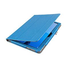 Schutzhülle Stand Tasche Leder L01 für Huawei MediaPad M3 Lite 10.1 BAH-W09 Blau