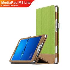 Schutzhülle Stand Tasche Leder L01 für Huawei MediaPad M3 Lite 8.0 CPN-W09 CPN-AL00 Grün