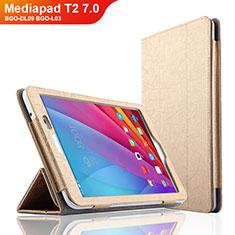 Schutzhülle Stand Tasche Leder L01 für Huawei Mediapad T2 7.0 BGO-DL09 BGO-L03 Gold
