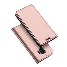 Schutzhülle Stand Tasche Leder L01 für Samsung Galaxy J2 Pro (2018) J250F Rosegold