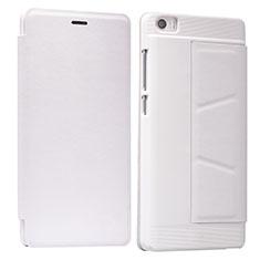 Schutzhülle Stand Tasche Leder L01 für Xiaomi Mi Note Weiß
