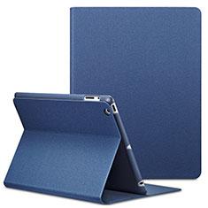 Schutzhülle Stand Tasche Leder L02 für Apple iPad 2 Blau