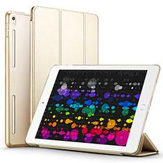 Schutzhülle Stand Tasche Leder L02 für Apple iPad Pro 10.5 Gold
