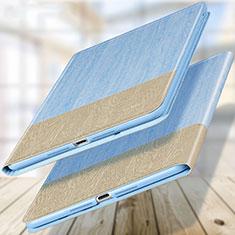 Schutzhülle Stand Tasche Leder L02 für Apple New iPad 9.7 (2017) Hellblau