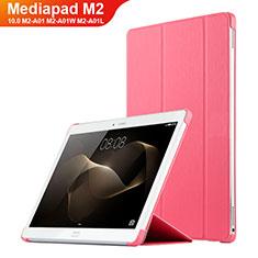 Schutzhülle Stand Tasche Leder L02 für Huawei MediaPad M2 10.0 M2-A01 M2-A01W M2-A01L Rosa