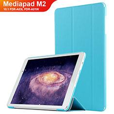 Schutzhülle Stand Tasche Leder L02 für Huawei MediaPad M2 10.1 FDR-A03L FDR-A01W Hellblau