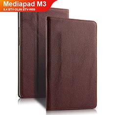 Schutzhülle Stand Tasche Leder L02 für Huawei Mediapad M3 8.4 BTV-DL09 BTV-W09 Braun