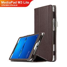 Schutzhülle Stand Tasche Leder L02 für Huawei MediaPad M3 Lite 8.0 CPN-W09 CPN-AL00 Braun