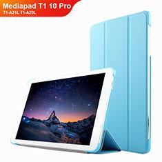 Schutzhülle Stand Tasche Leder L02 für Huawei Mediapad T1 10 Pro T1-A21L T1-A23L Hellblau