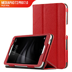 Schutzhülle Stand Tasche Leder L02 für Huawei MediaPad T2 Pro 7.0 PLE-703L Rot