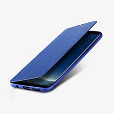 Schutzhülle Stand Tasche Leder L02 für Samsung Galaxy S8 Plus Blau