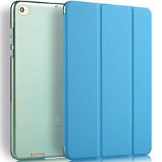 Schutzhülle Stand Tasche Leder L02 für Xiaomi Mi Pad 3 Blau