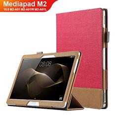 Schutzhülle Stand Tasche Leder L03 für Huawei MediaPad M2 10.0 M2-A01 M2-A01W M2-A01L Rot