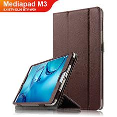 Schutzhülle Stand Tasche Leder L03 für Huawei Mediapad M3 8.4 BTV-DL09 BTV-W09 Braun