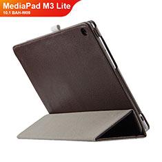 Schutzhülle Stand Tasche Leder L03 für Huawei MediaPad M3 Lite 10.1 BAH-W09 Braun