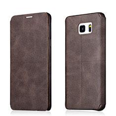 Schutzhülle Stand Tasche Leder L03 für Samsung Galaxy Note 5 N9200 N920 N920F Braun