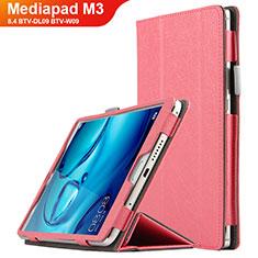 Schutzhülle Stand Tasche Leder L04 für Huawei Mediapad M3 8.4 BTV-DL09 BTV-W09 Rosa