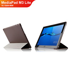 Schutzhülle Stand Tasche Leder L04 für Huawei MediaPad M3 Lite 10.1 BAH-W09 Braun