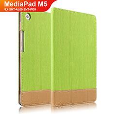 Schutzhülle Stand Tasche Leder L04 für Huawei MediaPad M5 8.4 SHT-AL09 SHT-W09 Grün