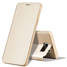 Schutzhülle Stand Tasche Leder L04 für Samsung Galaxy Note 5 N9200 N920 N920F Gold
