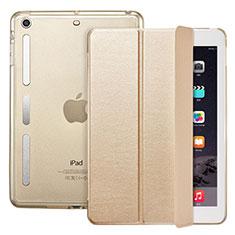 Schutzhülle Stand Tasche Leder L05 für Apple iPad Mini 2 Gold