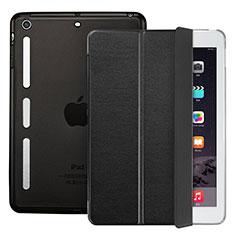 Schutzhülle Stand Tasche Leder L05 für Apple iPad Mini Schwarz
