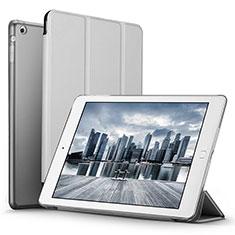 Schutzhülle Stand Tasche Leder L06 für Apple iPad Mini 3 Silber
