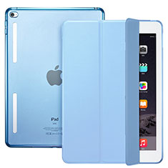 Schutzhülle Stand Tasche Leder L06 für Apple iPad Mini 4 Hellblau