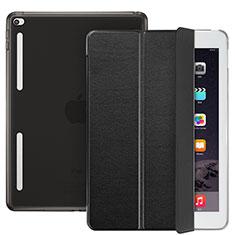 Schutzhülle Stand Tasche Leder L06 für Apple iPad Mini 4 Schwarz