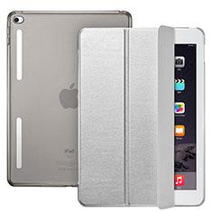 Schutzhülle Stand Tasche Leder L06 für Apple iPad Mini 4 Silber