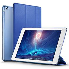 Schutzhülle Stand Tasche Leder L06 für Apple iPad Mini Blau