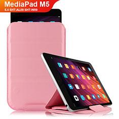 Schutzhülle Stand Tasche Leder L06 für Huawei MediaPad M5 8.4 SHT-AL09 SHT-W09 Rosa
