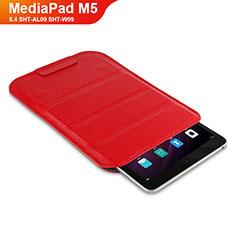 Schutzhülle Stand Tasche Leder L07 für Huawei MediaPad M5 8.4 SHT-AL09 SHT-W09 Rot