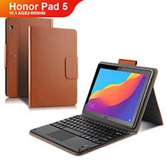 Schutzhülle Stand Tasche Leder mit Tastatur für Huawei Honor Pad 5 10.1 AGS2-W09HN AGS2-AL00HN Braun