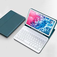 Schutzhülle Stand Tasche Leder mit Tastatur für Huawei MatePad 10.8 Cyan