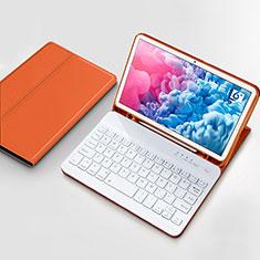 Schutzhülle Stand Tasche Leder mit Tastatur für Huawei MatePad 10.8 Orange