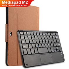 Schutzhülle Stand Tasche Leder mit Tastatur für Huawei MediaPad M2 10.0 M2-A01 M2-A01W M2-A01L Braun