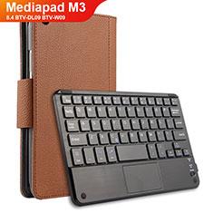 Schutzhülle Stand Tasche Leder mit Tastatur für Huawei Mediapad M3 8.4 BTV-DL09 BTV-W09 Braun