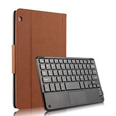 Schutzhülle Stand Tasche Leder mit Tastatur für Huawei MediaPad M3 Lite 10.1 BAH-W09 Braun