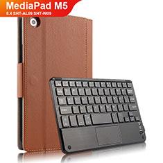 Schutzhülle Stand Tasche Leder mit Tastatur für Huawei MediaPad M5 8.4 SHT-AL09 SHT-W09 Braun