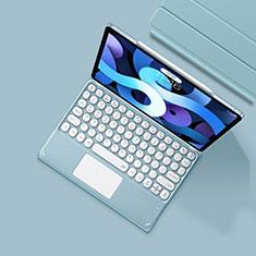 Schutzhülle Stand Tasche Leder mit Tastatur K01 für Apple iPad Air 4 10.9 (2020) Hellblau