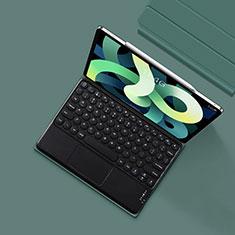 Schutzhülle Stand Tasche Leder mit Tastatur K01 für Apple New iPad Air 10.9 (2020) Nachtgrün