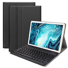Schutzhülle Stand Tasche Leder mit Tastatur K01 für Huawei MatePad 10.8 Schwarz