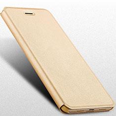 Schutzhülle Stand Tasche Leder R01 für Huawei Honor 8 Lite Gold