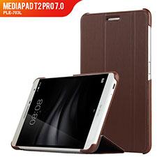Schutzhülle Stand Tasche Leder R01 für Huawei MediaPad T2 Pro 7.0 PLE-703L Braun