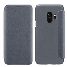 Schutzhülle Stand Tasche Leder S01 für Samsung Galaxy S9 Schwarz