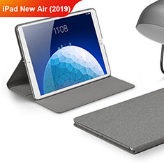 Schutzhülle Stand Tasche Stoff für Apple iPad New Air (2019) 10.5 Grau