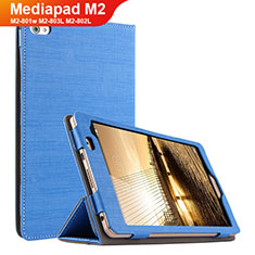 Schutzhülle Stand Tasche Stoff für Huawei Mediapad M2 8 M2-801w M2-803L M2-802L Blau