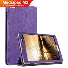 Schutzhülle Stand Tasche Stoff für Huawei Mediapad M2 8 M2-801w M2-803L M2-802L Violett